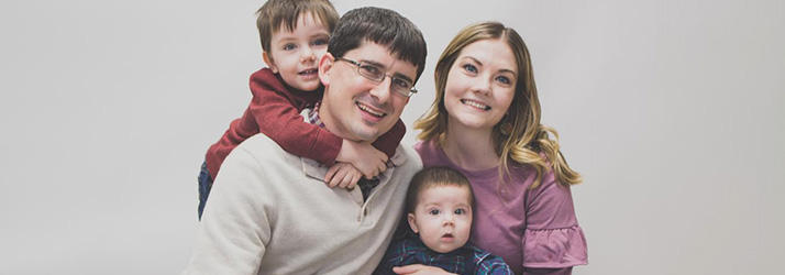 Chiropractor Clinton IA Trevor Tennant and family